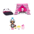 LOL Suprise Furniture S3 Sleepover játékszett, babával és bútorokkal - Ottalvós buli