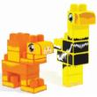 Baby Blocks: Safari teve és strucc építőjáték szett 20 db-os – Wader