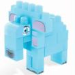 Baby Blocks: Safari elefánt építőjáték szett 23 db-os – Wader