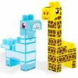 Baby Blocks: Safari zsiráf és láma építőjáték szett 19 db-os – Wader