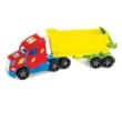 Magic Truck Basic Kamion billencses utánfutóval és világítással 80 cm-es – Wader