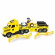 Magic Truck Technic: Kamion úthengerrel és fénnyel 80 cm – Wader