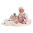 Llorens: Mimi újszülött baba füles takaróval 42cm-es