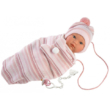 Llorens: Cuquita síró lány baba hálózsákban - 30 cm