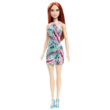 Barbie baba türkiz színű virágos ruhában