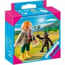 Playmobil 4757 - Állatgondozónő kis gorillával