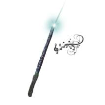 Varázsló/boszorkány pálca /zenél, világít/