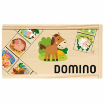 Fa dominó állatos mintával