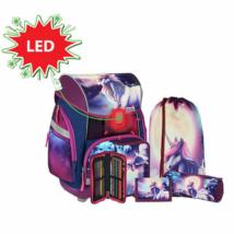 Spirit: Be Magical mintás, LED-es iskolatáska, hátizsák 6 db-os szett