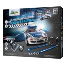 Darda: Police Track pályaszett 1 db Porsche 911 GT3 rendőr hátrahúzható pályaautóval
