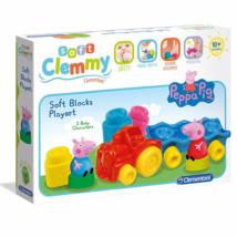 Clemmy Peppa malac vonatos puha építőkocka szett – Clementoni