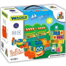 Közepes méretű építőkockák 33 db-os – Wader
