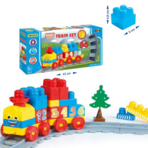 Baby építőelemes vasútpálya 1,45m 36 db-os szett – Wader