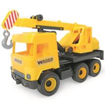 Middle Truck: Darus autó 43 cm sárga – Wader