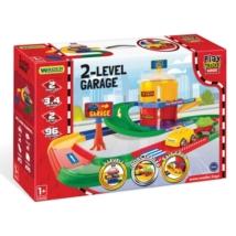 Play Tracks: 2 szintes garázs utánfutós kisautóval – Wader