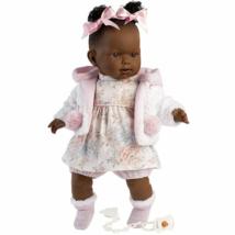 Llorens: Nicole síró afroamerikai baba 42cm-es