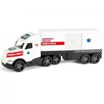 Magic Truck: Mentőkamion fluoreszkáló lámpákkal 81 cm – Wader