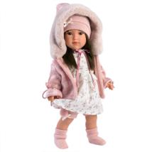 Llorens: Sofia 40cm-es kislány baba kapucnis pulóverben