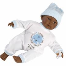 Llorens: Cuqui síró afroamerikai fiú baba 30 cm (30011)