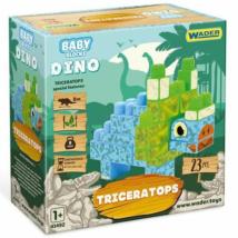 Baby Bloks: Triceratops építőjáték szett 23db-os - Wader
