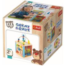Nagy játszókocka fa fejlesztő játék