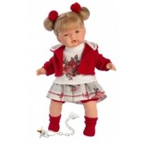 Llorens: Joelle 38cm-es baba hanggal és cumival rózsás ruhában (38556)