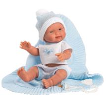 Llorens: Bebito 26cm-es fiú baba pléddel
