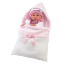 Llorens: Nica újszülött lány baba pólyával