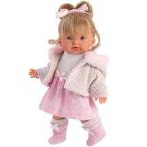 Llorens: Valeria baba rózsaszín ruhában - 28 cm