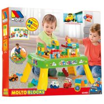 Molto: Játszóasztal építőkockákkal 25db-os játékszett