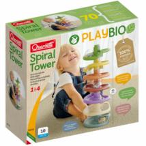Quercetti: Play Bio Spiral Tower golyópálya 46db-os