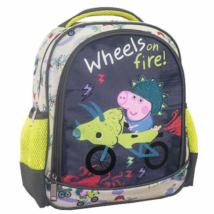 Peppa malac: Wheels on fire ovis hátizsák 27x10x31cm
