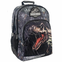 Jurassic World lekerekített iskolatáska, hátizsák 33x16x45cm