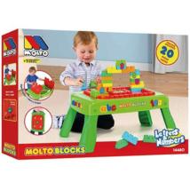 Molto: Játszóasztal építőkockákkal 20db-os játékszett