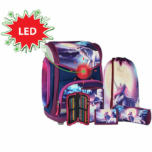 Spirit: Be Magical LED-es, 3D mintás iskolatáska, hátizsák 5db-os szett