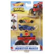 Hot Wheels Monster Trucks: Monster Maker Szörnyautó készítő szett piros alvázzal 1/64