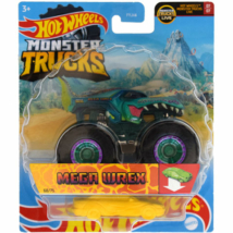 Hot Wheels - Monster Trucks: Mega-Wrex járgány roncsautóval 1/64