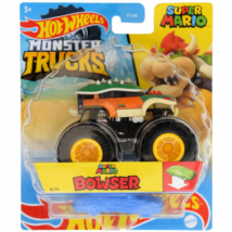 Hot Wheels - Monster Trucks: Super Mario Bowser járgány roncsautóval 1/64