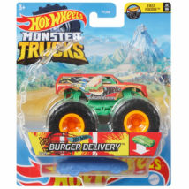 Hot Wheels: Monster Truck Burger Delivery járgány roncsautóval
