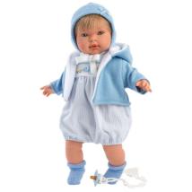 Llorens: Miguel 42cm-es síró baba kék ruhában