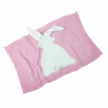 Llorens: Rózsaszín nyuszis pléd újszülött babáknak