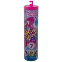 Barbie: Color Reveal baba divatos színekkel 7db kiegészítővel