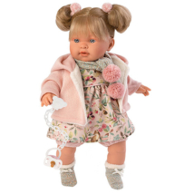 Llorens: Alexandra 42cm-es síró baba rózsaszín ruhában