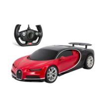 RC Bugatti Chiron piros-fekete távirányítós autó 1/14