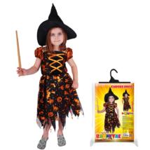 Boszorkány jelmez kalappal méret: S