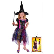 Boszorkány jelmez (színes) méret: S