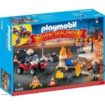 Playmobil 9486 - Adventi naptár Tűzvédelmi építési helyszín