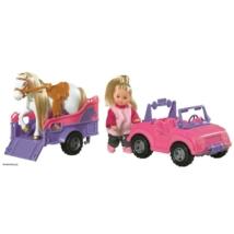 Evi Love baba autóval és vontatóval, lóval