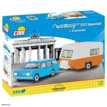 COBI 24592 - Wartburg 353 Tourist lakókocsival