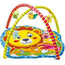 Oroszlános baby játszószőnyeg plüss állatokkal 72x65x47cm